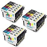 GUCOCO Hohe Kapazität 15 Multipack Packung Epson 16 XL Kompatible Tintenpatronen für Epson Workforce WF-2630 WF-2660 WF-2760 WF-2510 WF-2750 WF-2540 WF-2530 WF-2010 WF-2650 Drucker (6 Schwarz, 3 Cyan, 3 Magenta, 3 Gelb)