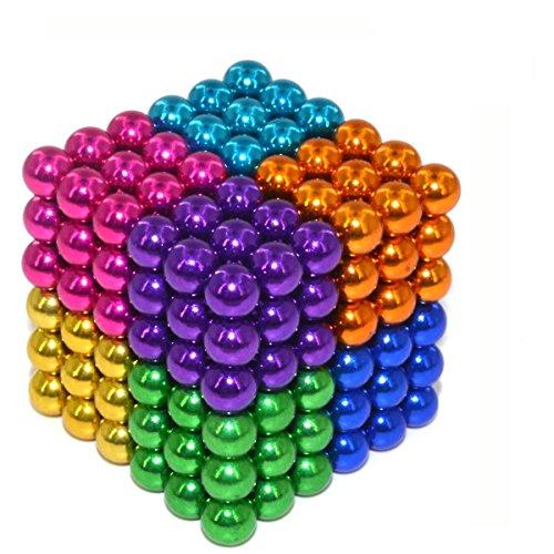 Elsatsang Cubo Classic,Puzzle Classico 3D,216 Palline magnetiche (Multicolore 8)