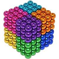 Elsatsang Puzzles 3D, Juguetes de la Descompresión-Cubo de Bolas Magnéticas, Puzle de Bolas de Neodimio (Multicolor 8)