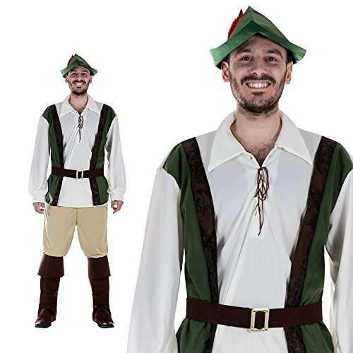 Jäger Kostüm Größe M Herren Karneval 50127 Robin ()