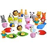 BEETEST Gomas de borrar 30 PCS 30 estilos divertidos Puzzle animales lápiz...