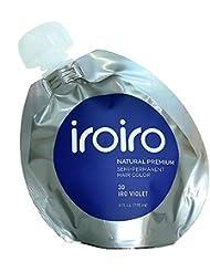 Iroiro Premium Naturel Semi Permanent Couleur de cheveux 30IRO Violet 113,4gram