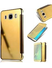Galaxy J5 2016 Cover,MingKun Samsung Galaxy J5 2016 J510 Funda de Cuero Flip Cover Carcasa Protectora de Carcasa con Soporte Plegable Caso