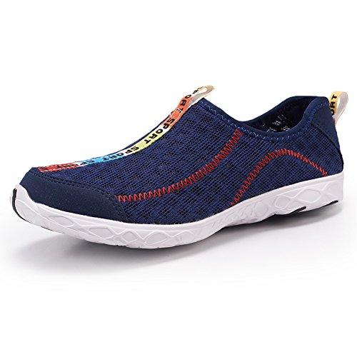 Le scarpe da acqua Uomo Donna asciugatura rapida Beach Scarpe Aqua Shoes Dark Blue