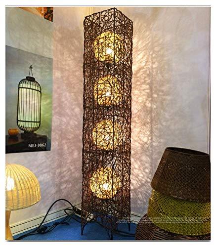 Beleuchtung Südostasien Rattan Stehlampe Wohnzimmer Schlafzimmer Beleuchtung Restaurant Hotel Inn Leisure Club Kreative Stehlampe -