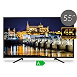 TD Systems TV LED UHD 4K 55' Pulgadas, Televisor Ultra HD K55DLS6U (Resolución 3840x2160/VGA 1/HDMI 2/Eur 1/USB, Reproductor y grabador)