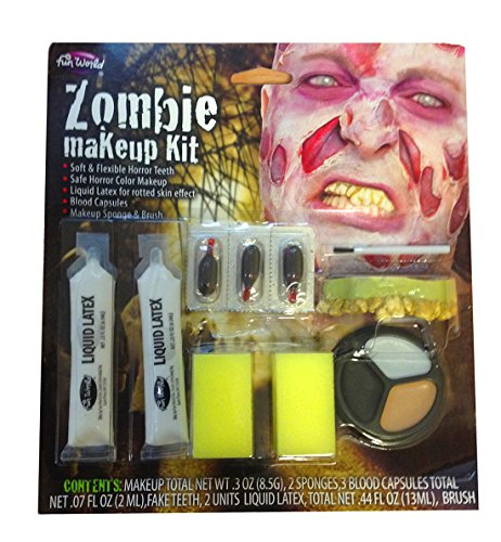 Make up trucco untoter zombie si abschaelende pelle costumi di halloween horror spezielles fx set nuovo