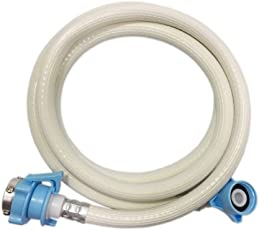 Neerjharini 5m PVC Plastic Inlet Tube Hose for Fully Automatic Washing Machine (Yellowish White)