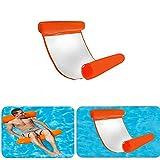 Towinle Wasser Hängematte, Wasser Luftmatratze Aufblasbare Pool Schwimmbad Wasser Luftmatratze mit Kopf- und Fußteil für Schwimmbad Mesh Lounge