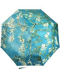 Go Further A prueba de viento de Van Gogh del almendro en flor de tres paraguas