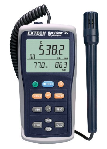 Extech EA80 EasyView Indoor Air Quality Meter/Datalogger by Extech Instruments