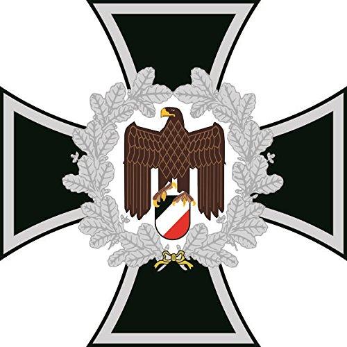 U24 Aufkleber Eisernes Kreuz mit Adler Deutschland Autoaufkleber Sticker Konturschnitt (Adler Kreuz)