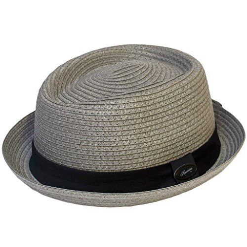 The Hat Company Herrenhut, Pork Pie, S70 Gr. 57 cm, dunkelgrau