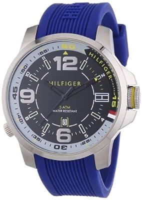 Tommy Hilfiger Brandon - Reloj de Cuarzo para Hombre, Correa de Silicona Color Azul