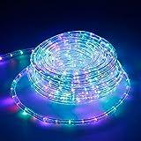 ECD Germany LED Lichterschlauch RGB, 20 Meter/36 LED Lampen pro Meter/Energieklasse A+