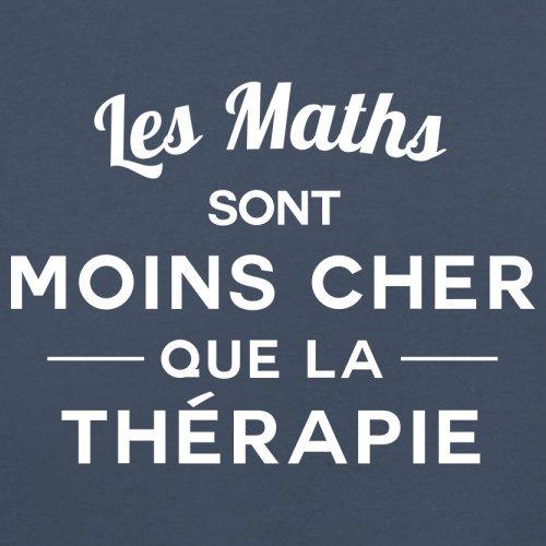Les maths sont moins cher que la thérapie - Femme T-Shirt - 14 couleur Bleu Marine