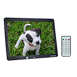 Andoer 15 Inch Large Screen Led Digital Photo Frame Album With Motion Detection Sensor Black