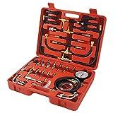 SAILUN Benzindruckprüfer Set Drucktester Kompression Messer inkl. Transportkoffer und verschiedener Adapter für Auto/PKW 0-10 bar