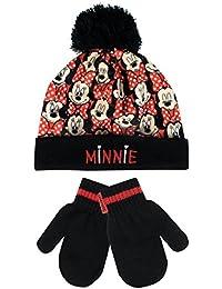 Disney Minnie Mouse - Conjunto de gorro y guantes para niña - Minnie Mouse