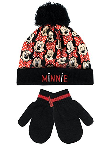 b1219b4fda5 Disney Minnie Mouse Girls Minnie Mouse Hat and Gloves Set Ages 2 to 8 .