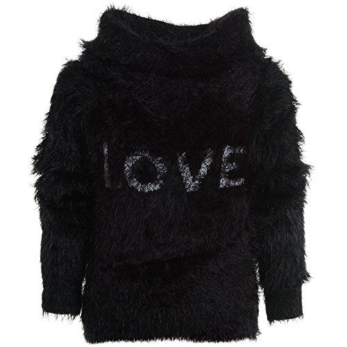 BEZLIT -  Cardigan  - Camicia - Collo a U  - Maniche lunghe  - ragazza nero 11 anni