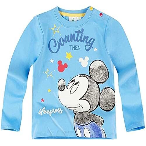 Tee Shirt Manga Larga Bebé Niño Mickey azul de 3a 23meses