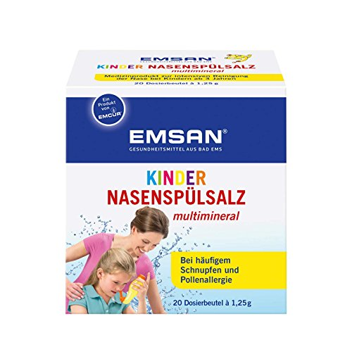Emcur Kinder Nasenspülsalz 20 Beutel Nasendusche Nasenspülung bei Schnupfen Allergie Trockener Nase