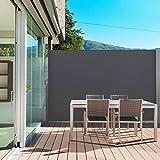 Probache - Paravent extérieur rétractable 300x200cm Gris Anthracite Store Vertical