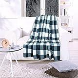 Kuscheldecke York Grey Sommerlich Leichtes Design, Grau, 150x200 cm, Flauschig Weiche Wohndecke für Erwachsene und Kinder