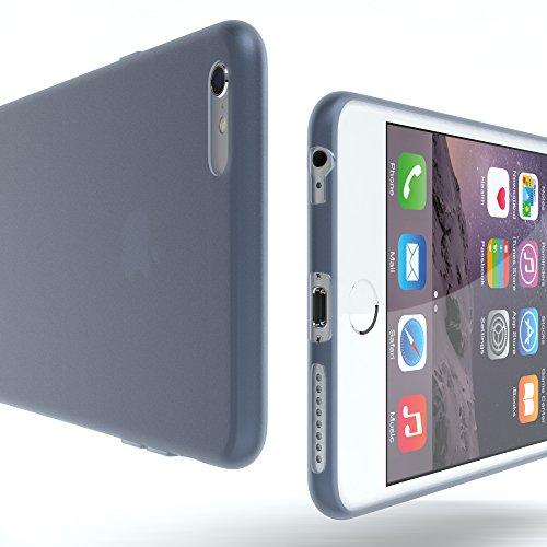 """EAZY CASE Handyhülle für Apple iPhone 6S Plus, iPhone 6+ Hülle - Premium Handy Schutzhülle Slimcover """"Clear"""" hochwertig und kratzfest - Transparentes Silikon Backcover in Klar / Durchsichtig Matt Dunkelblau"""