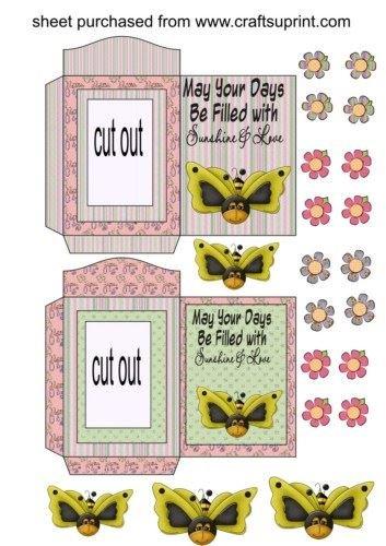 Feuille A4 pour confection de carte de vœux - Butterbee cut out seed packets par Sharon Poore
