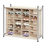 StorageManiac Zapatero con capacidad para 20 pares de zapatos, con compartimentos reforzados, de fácil instalación. Medidas 82 x 34 x 70,5 cm