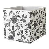 IKEA Regalfach DRÖNA Aufbewahrungsbox Regaleinsatz - 33x38x33 cm (BxTxH) - weiß mit grauen Ornamenten - passend für Kallax, E