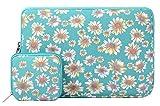 Mosiso Portable Sleeve, Style Bohème Canvas Housse Case pour 11-11,6 Pouces Ordinateurs Portables/MacBook Air avec étui de Bonus pour Chargeur ou Magic Mouse, Or Chrysanthème