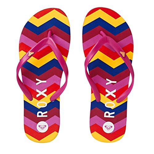 Roxy Ladies Bamboo Flip Flop Sandals ERJL100031 Pink Purple