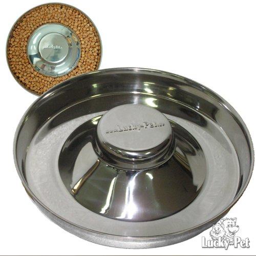 Lucky-Pet Welpennapf Welpenfutterschale aus Edelstahl (28 cm Durchmesser)