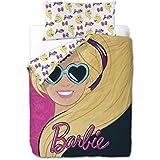 Mattel Barbie Pink - Funda nórdica de 3 piezas para cama de 90 cm