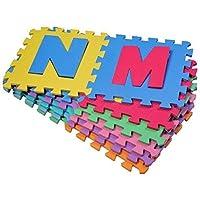 Outsunny - Tappeto Gioco 36 Pezzi - Tappeto Puzzle 26 Lettere dell'alfabeto e numeri da 0 a 9 - TUV