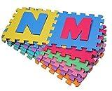 Outsunny HOMCOM Tappeto Gioco 36 Pezzi Tappeto Puzzle 26 Lettere dell'alfabeto e numeri da 0 a 9 TUV