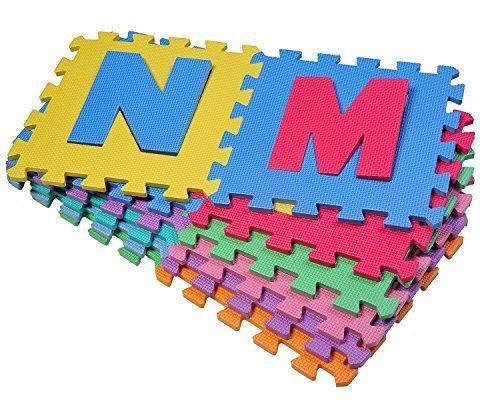 Outsunny - Tappeto Gioco 36 Pezzi - Tappeto Puzzle 26 Lettere dell'alfabeto...
