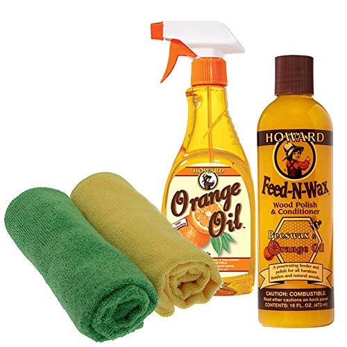 Howard Feed (Howard feed-n-wax X 1& Howard orange Öl X 1(473ml Mit 2Mikrofasertücher)