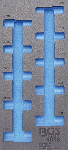 BGS 4098-1 1/3 Werkstattwageneinlage, leer für: Steckschlüsseleinsätze 12,5 (1/2), tief in ZOLL, 10-tlg.