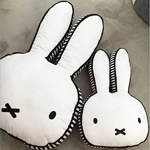 pyc88 Mifi Kaninchen hält Kissen Nordic Kinder Kissen Kissen Kinderzimmer dekorative Puppe Geschenk nehmen Requisiten Hauteur 40cm / Yeux ronds rayés Blancs et Noirs