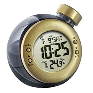 Bbtradesales Water Powered RCC Clock with Temperature, Gold