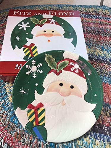 Fitz & Floyd Tabletop Merry & Bright Canape Plate Christmas New Tabletop Merry & Bright CANAPE Plate 29101 Christmas New