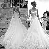 CJJC Abiti da Sposa Vintage Palazzo Sposa Semplice Elegante Slim Backless Tailing su Misura ECeremony Vening Prom Dresses con Applicazioni in Pizzo
