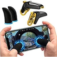 PROTAQ New Gun L1R1 Mobile Button Joystick & Game Controller Trigger (Garena Free Fire/COD Mobile/etc). with Blue Thumb…