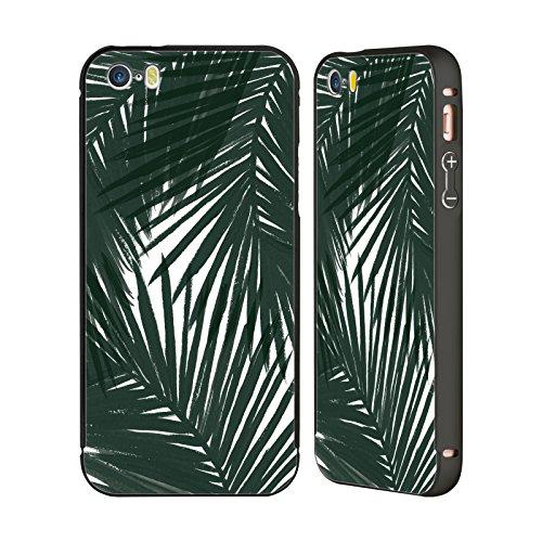Offizielle Caitlin Workman Palmen Grün Organisch Schwarz Rahmen Hülle mit Bumper aus Aluminium für Apple iPhone 6 Plus / 6s Plus Palmen Grün