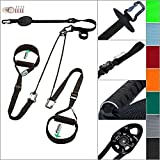 eaglefit Sling-Trainer exclusive Elastic Alu, attrezzatura fitness, addestratore di imbragatura incl. carrucola e ancoraggio porta, regolazione in lunghezza 160-360 cm, capacità di carico 350 kg.