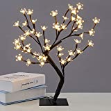 SONIRY Filiali Luminarias LED Cherry Blossom Albero di Cristallo Night Lights Lampade da Tavolo Camera Festa di Nozze Coperto Home Decor Illuminazione: Cherry Blossom-Caldo